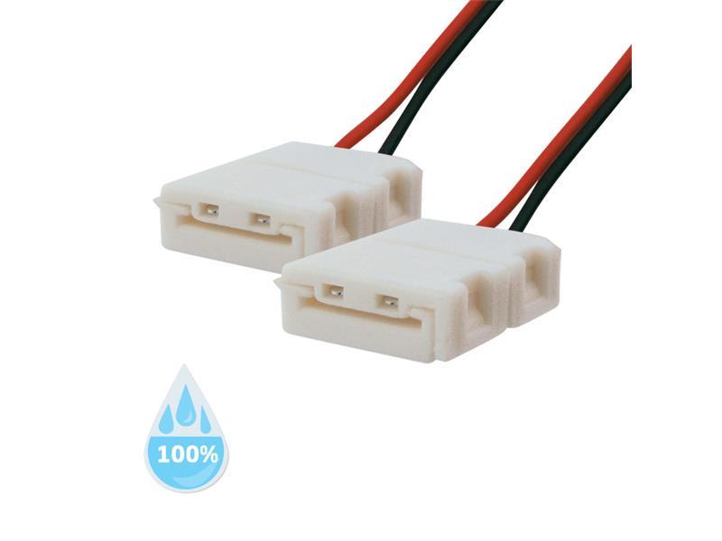 Spojka nepájivá pro LED pásky 3528, 2835 30,60LED/m o šířce 8mm s vodičem, voděodolný IP68