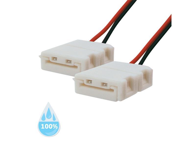 Spojka nepájivá pro LED pásky 5050, 5630 30,60LED/m o šířce 10mm s vodičem, voděodolný IP68