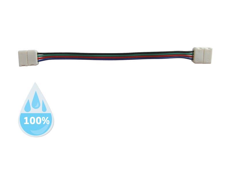 Spojka nepájivá pro RGB LED pásky 5050 30,60LED/m o šířce 10mm s vodičem, voděodolný IP68
