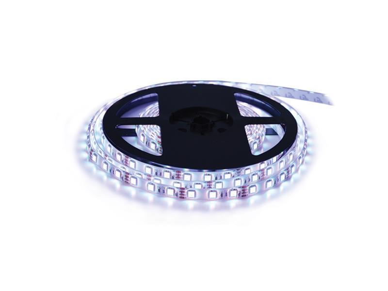 LED pásek 12V 3528  60LED/m IP65 max. 4.8W/m bílá studená, magnetický (cívka 5m) zalitý