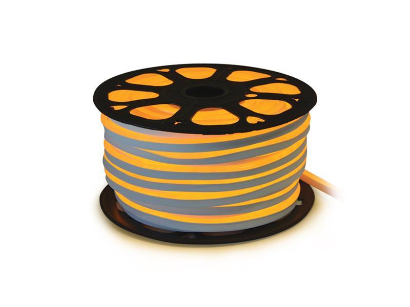 LED neon flexi hadice 230V 92LED/m 7W/m žlutá (50m)