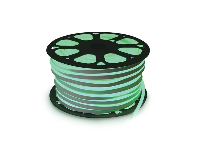 LED neon flexi hadice 230V 120LED/m 12W/m zelená (50m)