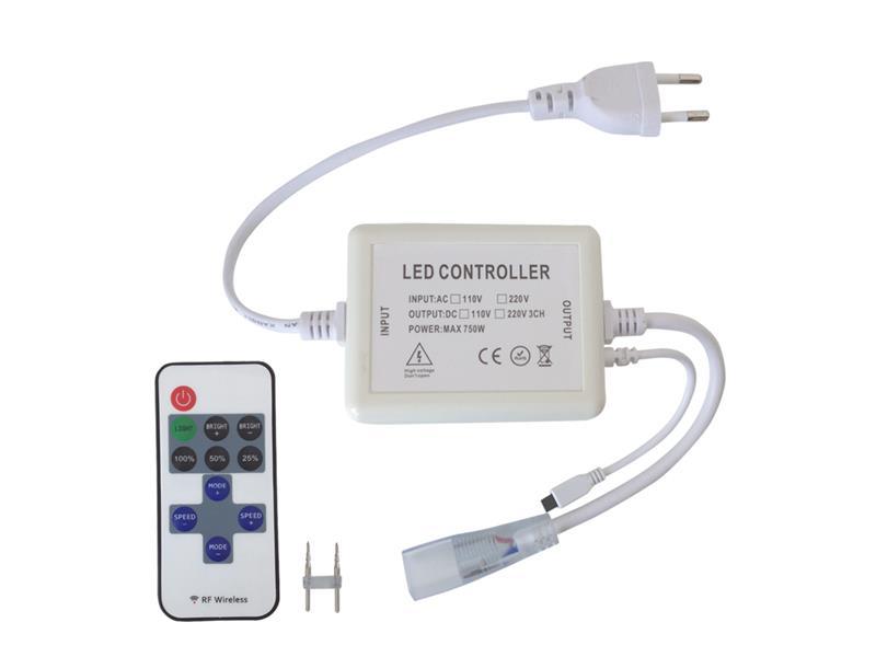 TIPA LED kontroler pro LED pásky 230V s čipem 3528 + dálkové ovládání