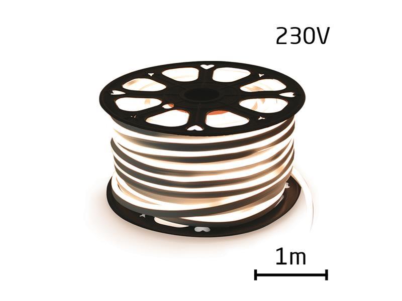 LED neon hadice 230V, 2835, 120LED/m IP67 max. 12W/m bílá přírodní (1ks=1m) zalitý