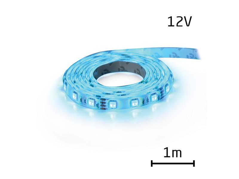 LED pásek 12V 3528  60LED/m IP65 max. 4.8W/m modrá (cívka 1m) zalitý