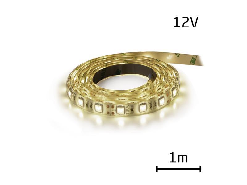 LED pásek 12V 3528 120LED/m IP65 max. 9.6W/m bílá přírodní (cívka 1m) zalitý