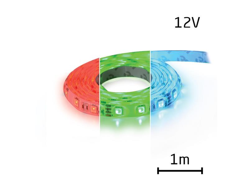 LED pásek 12V 5050 60LED/m IP65 max. 12W/m RGB (1ks=1m) zalitý