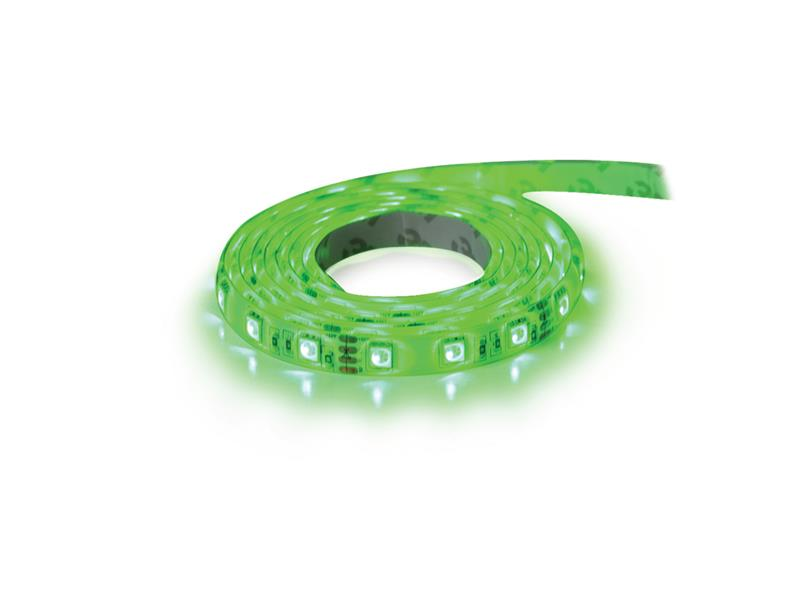 LED pásek 12V 5050  60LED/m IP65 max. 14.4W/m zelená (cievka 1m) zalitý