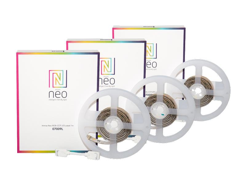 LED pásek 24V 60LED/m IP65 11.5W/m RGB NEO IMMAX 07009T 3ks