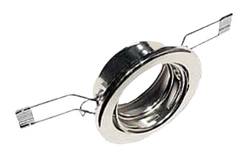 Svítidlo podhledové vyklopné chrom pro žárovku 50mm MR,GU