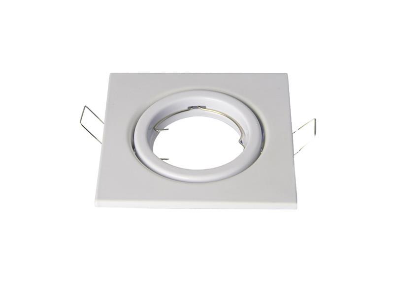 Svítidlo podhledové výklopné bílé, čtvercové