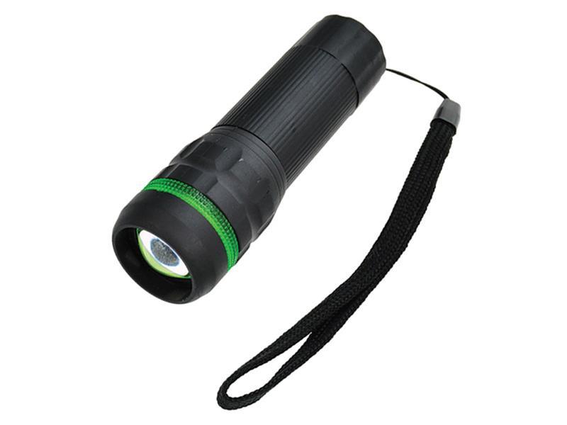 Svítilna LED (1W)  pogumovaná (3xAAA) fokus, šedá WL07