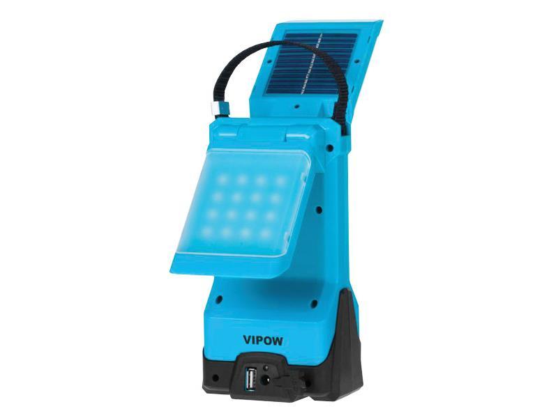 Svítilna kempinková LED 2x16 solární s nabíjením auto i ze sítě