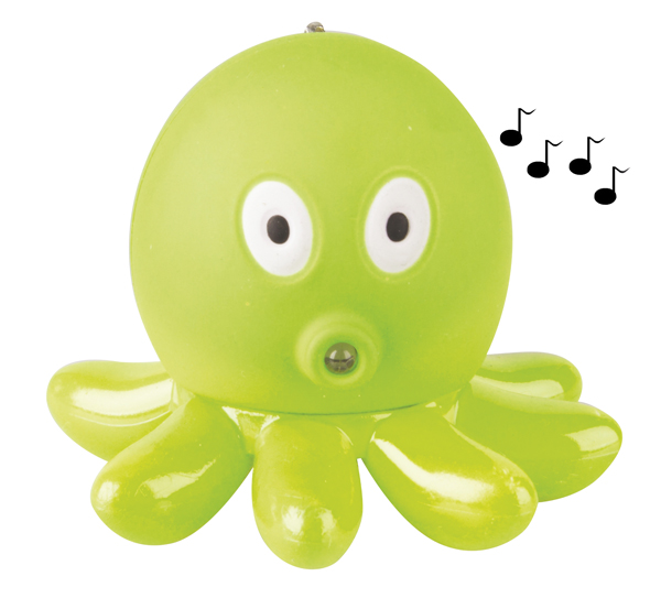 Svítilna LED  ( 1x)  přívěsková chobotnice se zvukem