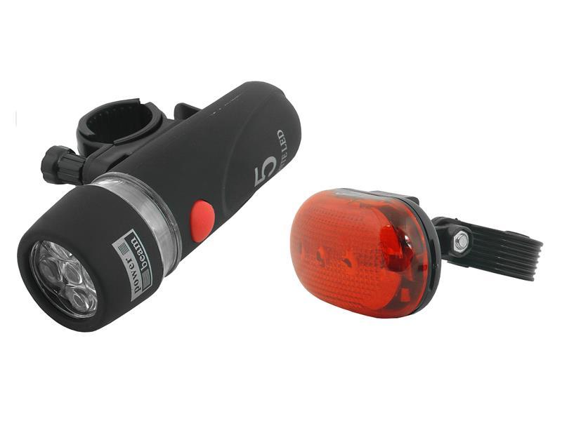 Svítilna na kolo LED LTC přední 5W + zadní 3W