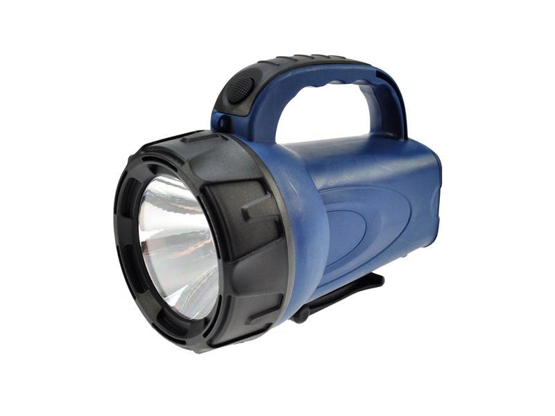 Svítilna nabíjecí LED (3W), Li-Ion, černomodrá SOLIGHT WN16
