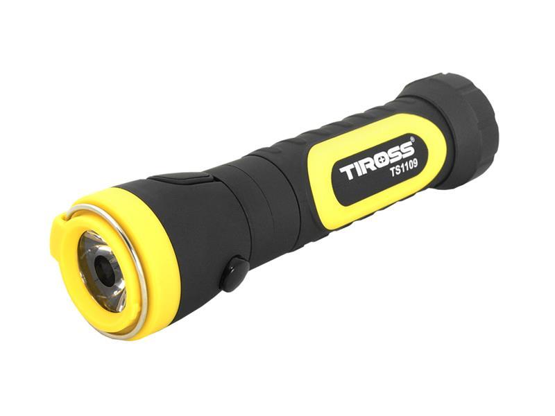 Svítilna ruční TIROSS TS-1109 2W, 4x AAA s magnetem žlutá