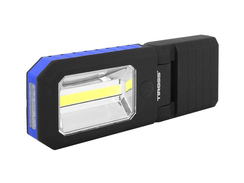 Svítilna ruční TIROSS TS-1833 4 LED+COB, 3x AAA BLUE s magnetem