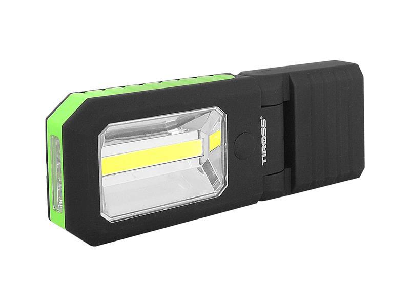 Svítilna ruční TIROSS TS-1833 4 LED+COB, 3x AAA GREEN s magnetem