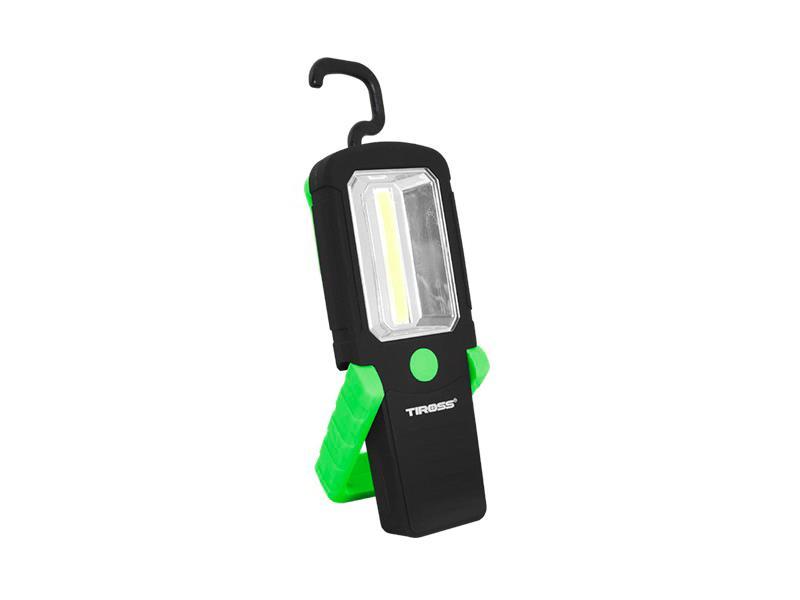 Svítilna ruční TIROSS TS-1837 1 COB, 3x AAA GREEN