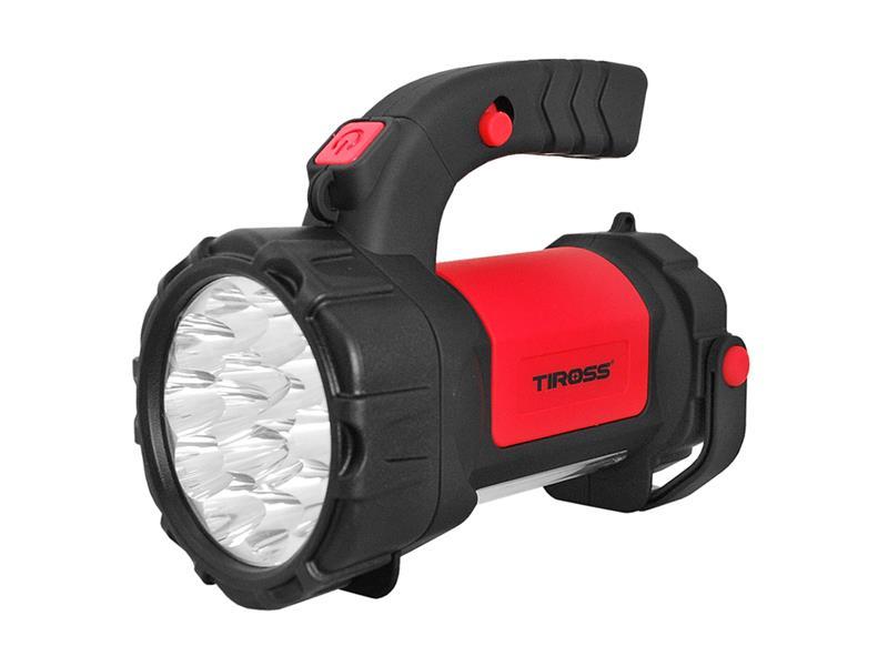 Svítilna montážní TIROSS TS-1871, 15 LED, 1000 mAh, nabíjecí červená