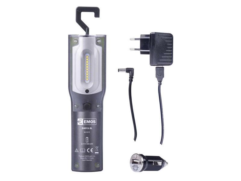 EMOS Svítilna nabíjecí LED SMD (5W+ 1W UV LED) P4522
