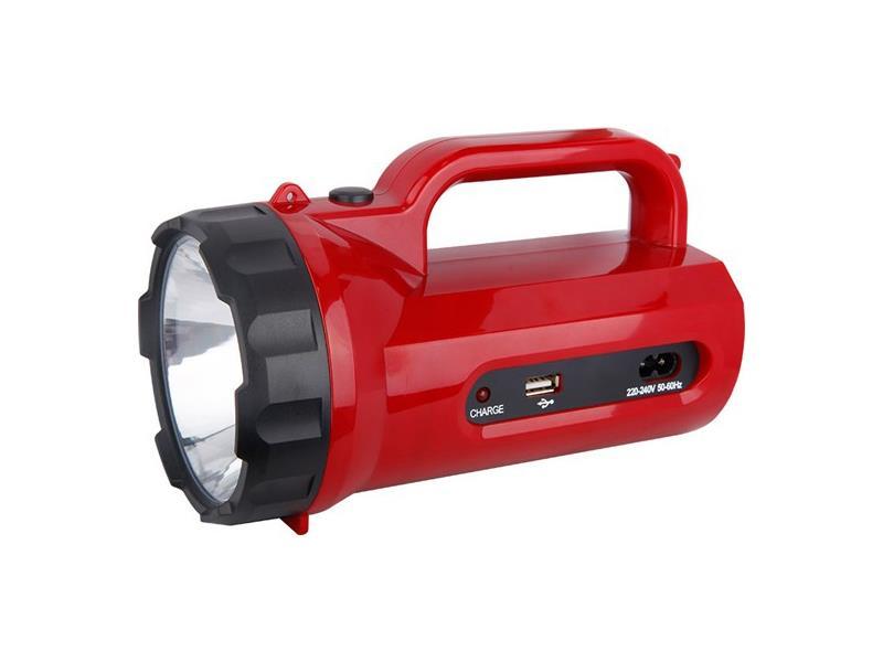 Solight LED svítilna nabíjecí s power bankem, 5W, 235lm, červená WN23