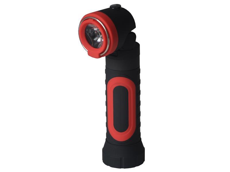 Svítilna ruční TIROSS TS-1109 2W, 4x AAA s magnetem červená