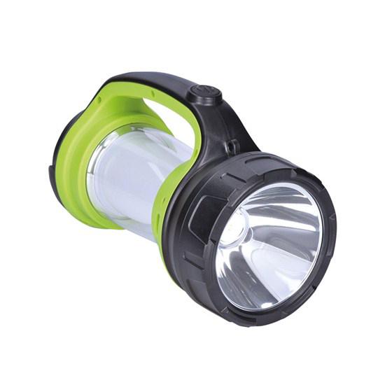 Svítilna LED nabíjecí s lucernou, 3W Cree, 168lm + 200lm, zeleno-černá