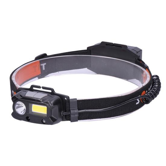 Svítilna SOLIGHT čelovka nabíjecí LED 3W COB,150 + 60lm, Li-ion, WN30