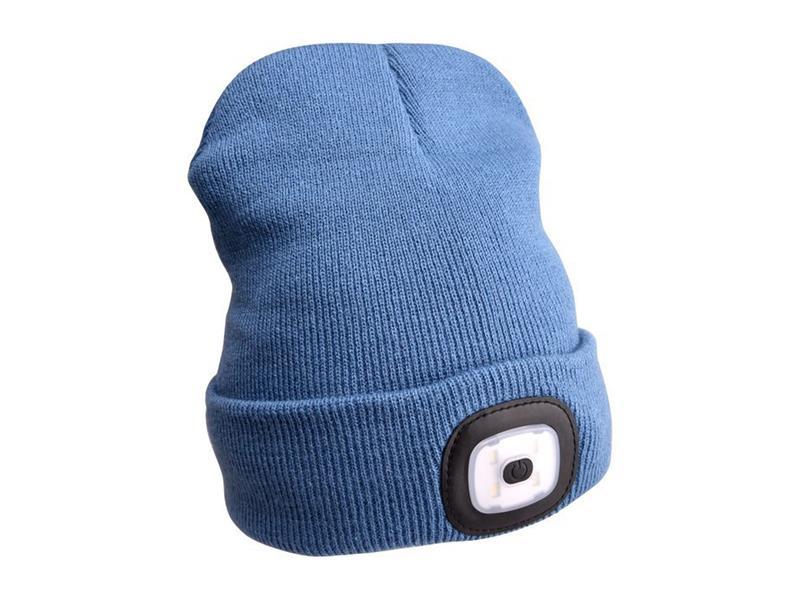 Čepice s čelovkou EXTOL LIGHT EX43191 nabíjecí, modrá