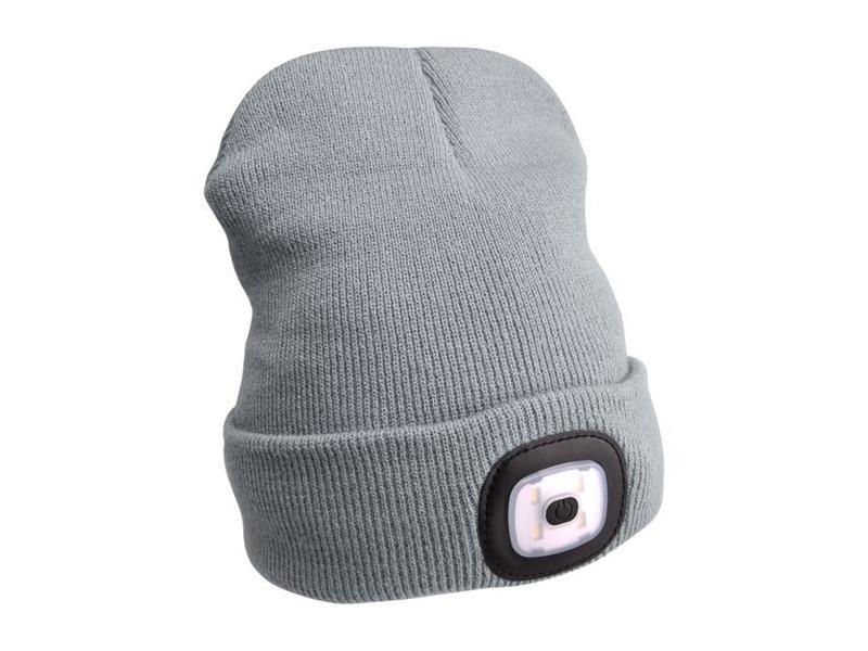 Čepice s čelovkou EXTOL LIGHT EX43195 nabíjecí, šedá