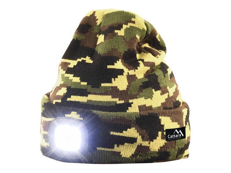 Čepice s čelovkou CATTARA 14020 ARMY nabíjecí
