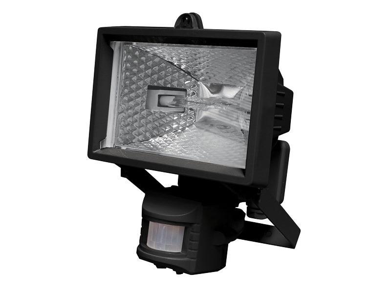EMOS Reflektor 150W s PIR senzorem černý