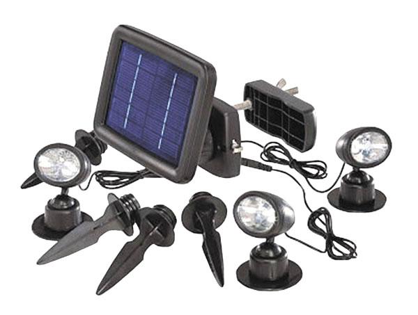 Solární bodové svítidlo Trio s PIR čidlem
