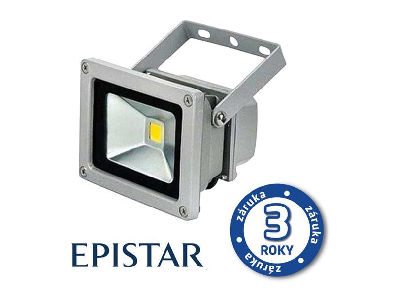LED reflektor venkovní  10W/800lm EPISTAR, MCOB, AC 230V, STUDENÁ, šedý