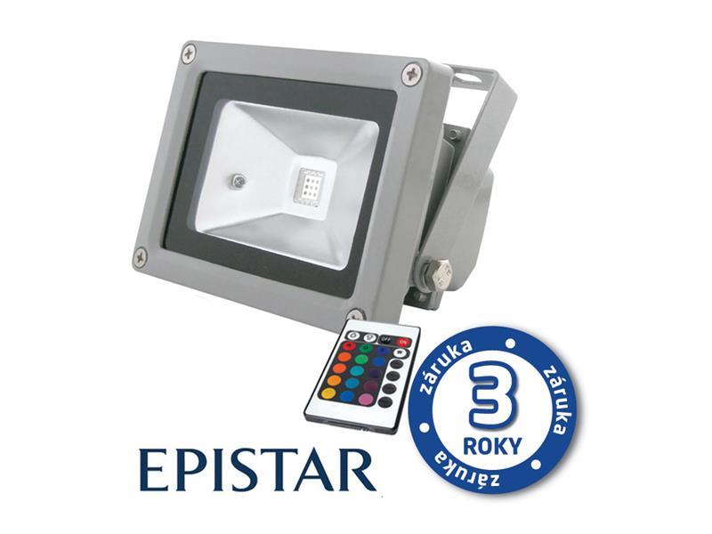 LED reflektor venkovní 10W RGB EPISTAR, MCOB, AC 230V, šedý