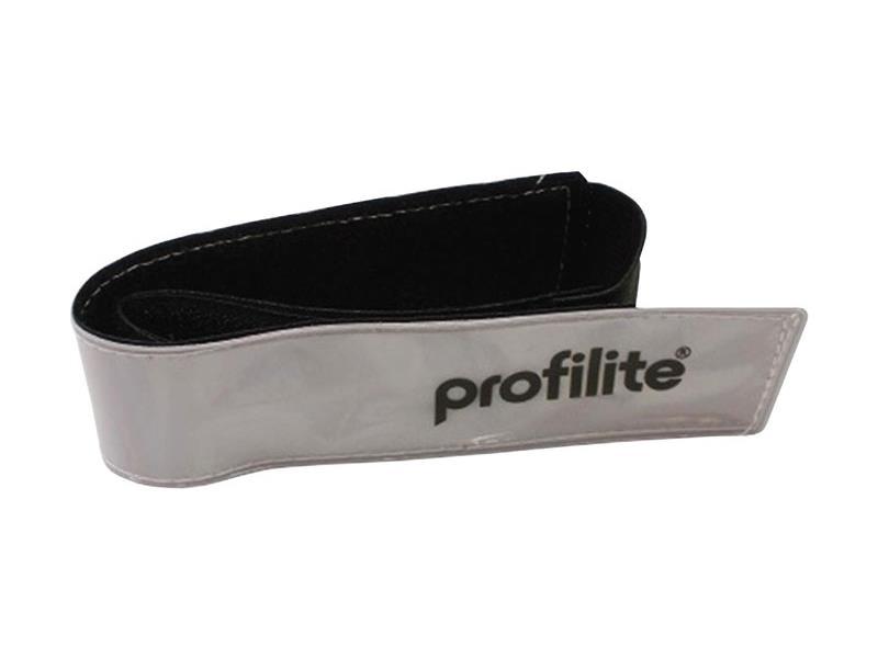 Reflexní páska, elastická, Strap, stříbrná, 43x3,5 cm
