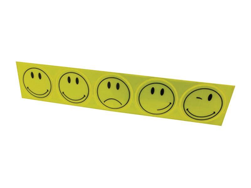 Reflexní nálepky, sada 5ks, průměr 5cm, žlutá