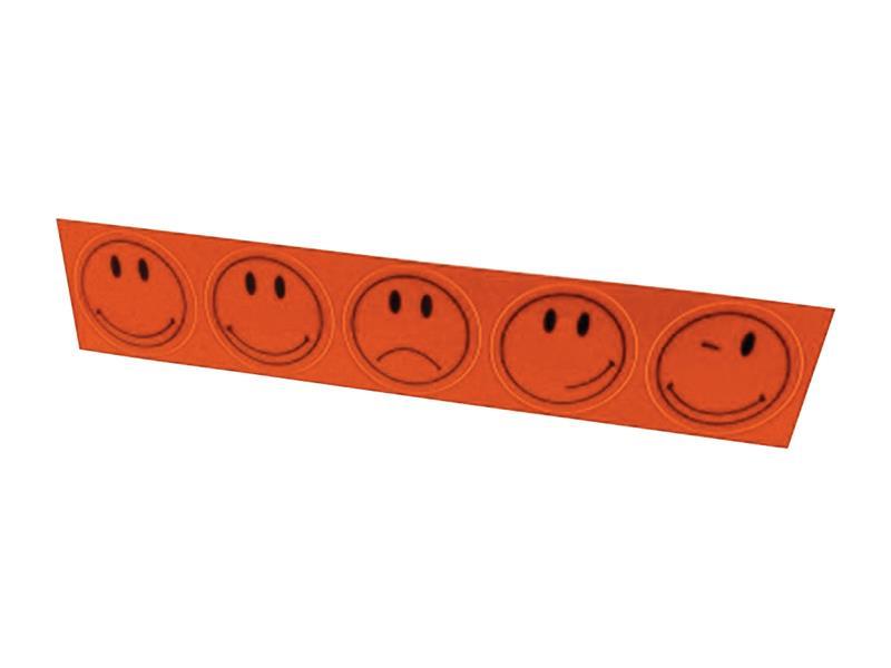 Reflexní nálepky, sada 5ks, průměr 5cm, oranžová