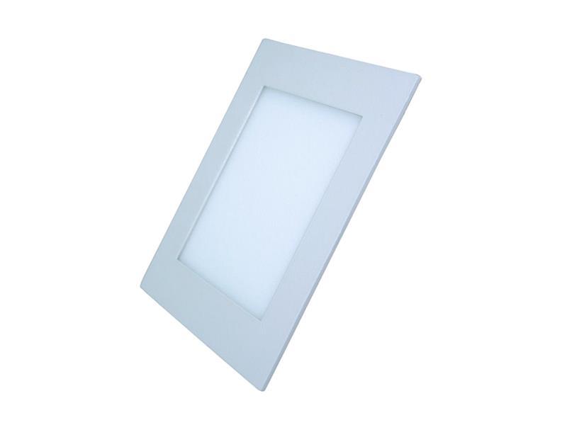 LED mini panel, podhledový 12W, 900lm, 3000K, tenký, čtvercový, bílé WD107 SOLIGHT