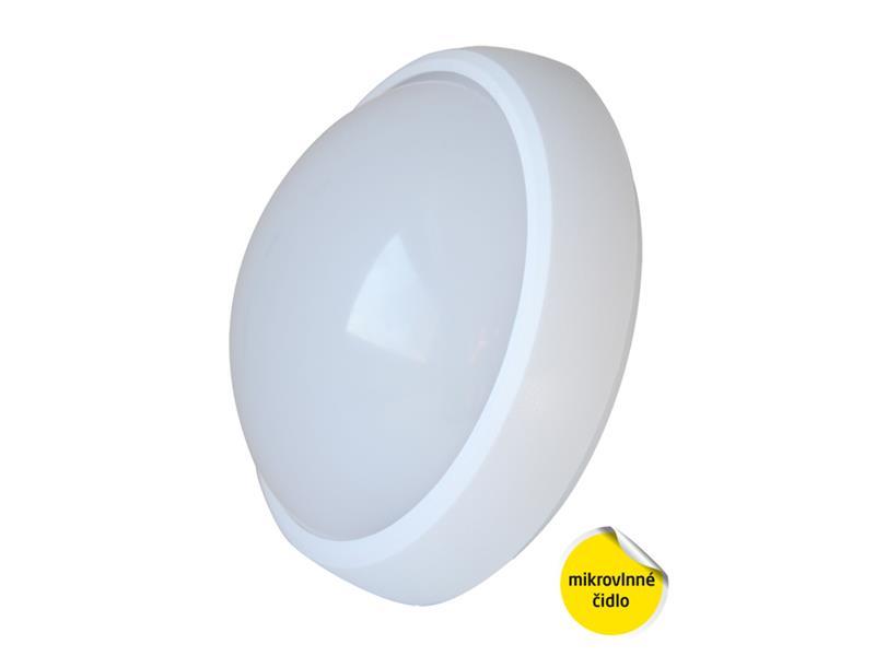TIPA Svítidlo LED STN01 stropní/nástěnné s mikrovlnným čidlem, IP65, 12W, 4000K