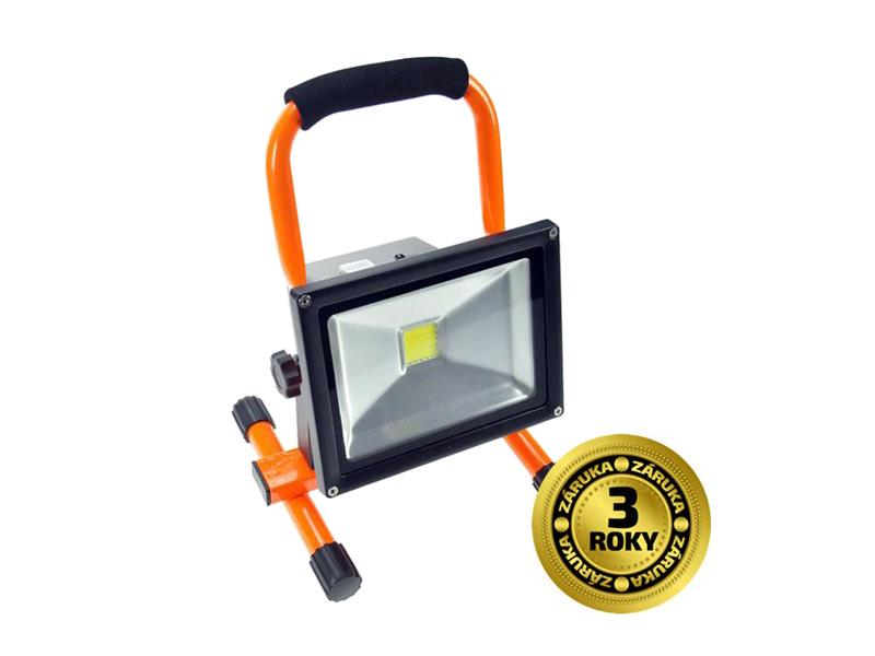 Venkovní reflektor LED Solight , 20W, 1600lm, přívodní kabel 1,2m, AC 230V, stojan WM-20W-ES
