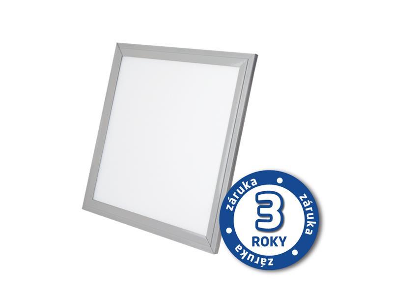 LED světelný panel, 20W, 30x30cm, 1300lm, 4000K, LP01,  stříbrný
