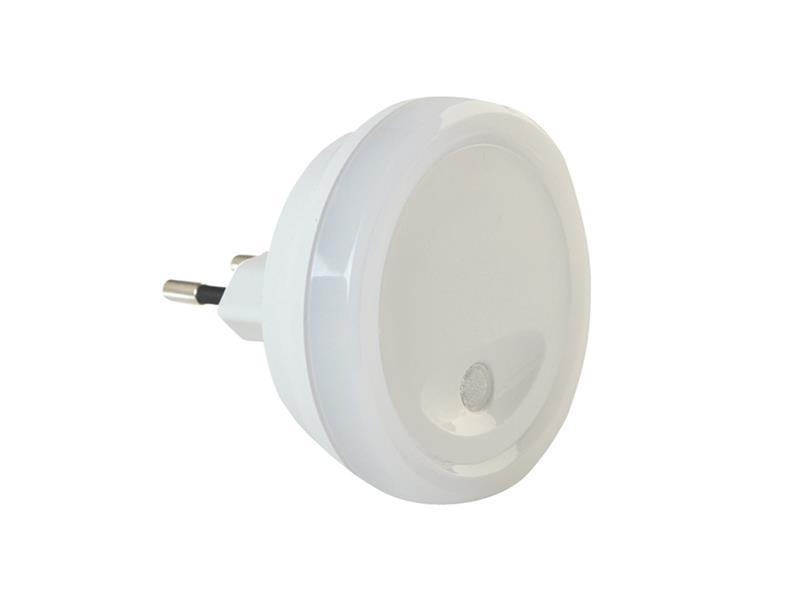 Noční LED svítidlo se světelným senzorem, kulaté