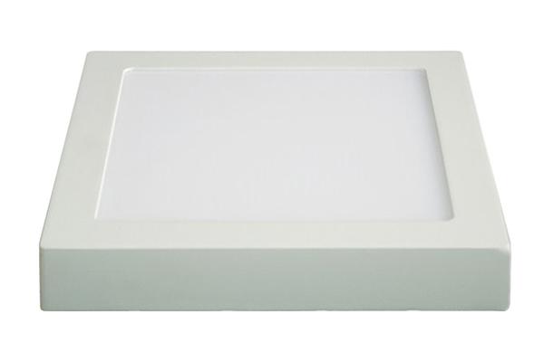 LED panel přisazený, 18W, 1530lm, 3000K, čtvercový, bílý SOLIGHT WD118