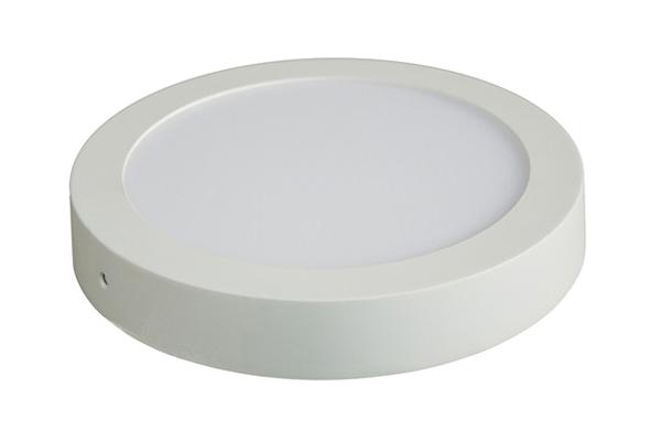 LED panel přisazený, 18W, 1530lm, 3000K, kulatý, bílý SOLIGHT WD117