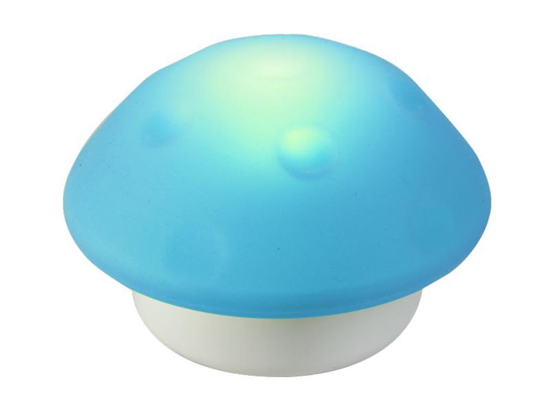 Dětské noční světlo 3LED Hříbek modrá