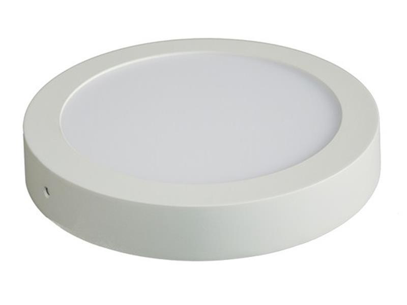 LED panel přisazený, 24W, 1800lm, 3000K, kulatý, bílý SOLIGHT WD121