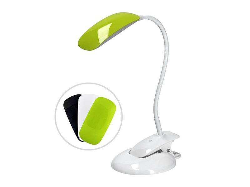 Svítidlo  stolní LED stmívatelná lampička 2v1, podstavec i klip, 5W 4000K, 3 barevné kryty WO42